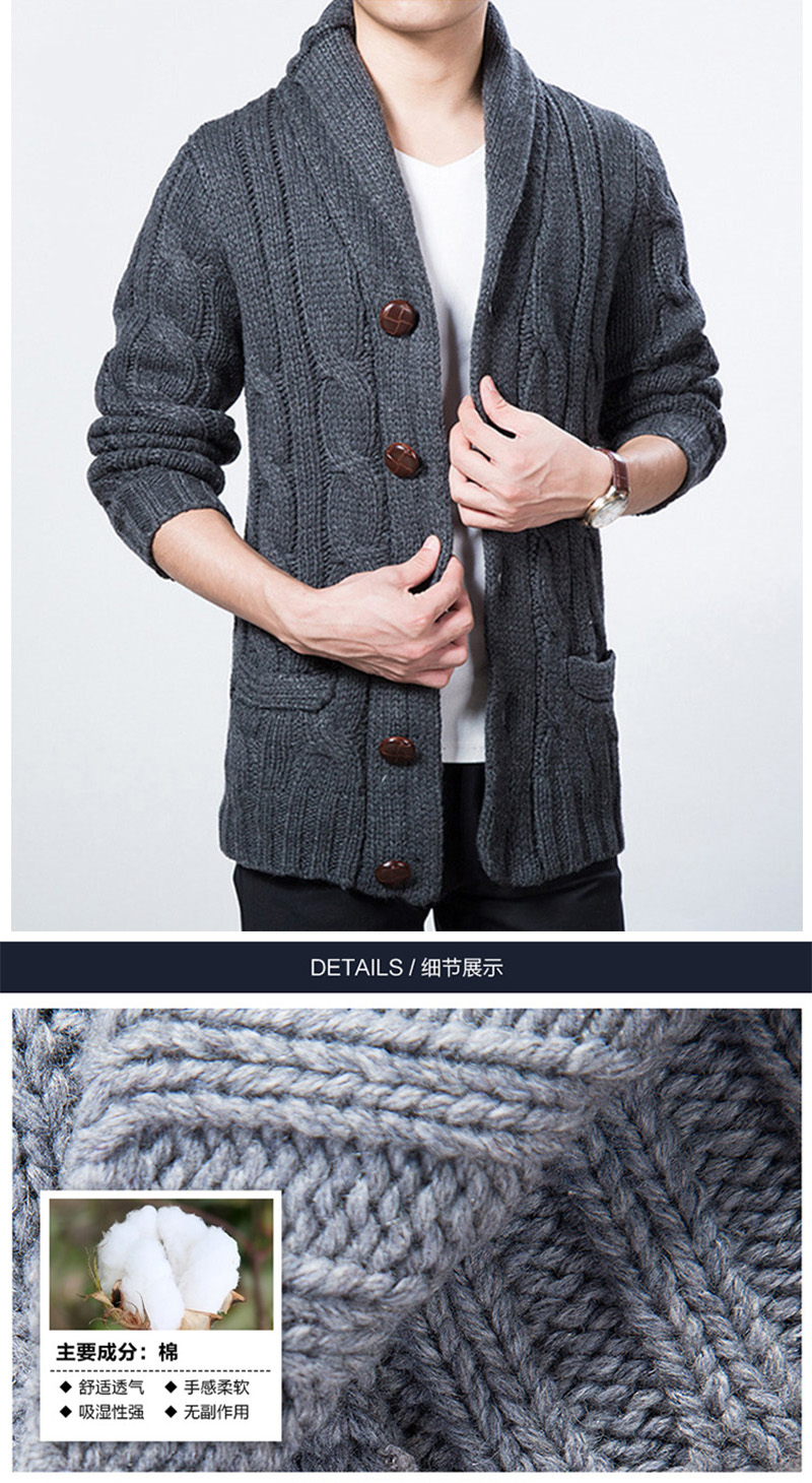 a2d90891cc WIIVIP New Winter Spring Sweater Men Thick Wool Blend Full Sleeves ...