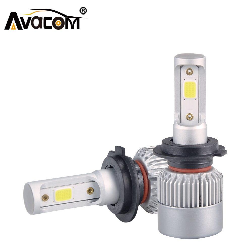LED H7 H4 H1 H11 H8 Lampada Auto Lampadina 6000 K 9005 9006 HB3 HB4 12 V 24 V 8000Lm 72 W COB Chip Luces LED Para Auto Fiala LED Voiture