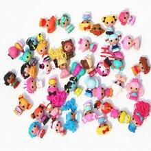 Skyleshine 50 шт./лот Lalaloopsy куклы и аксессуары 4 см Play House игрушки фигурка девочки Brinquedo кукла S6202