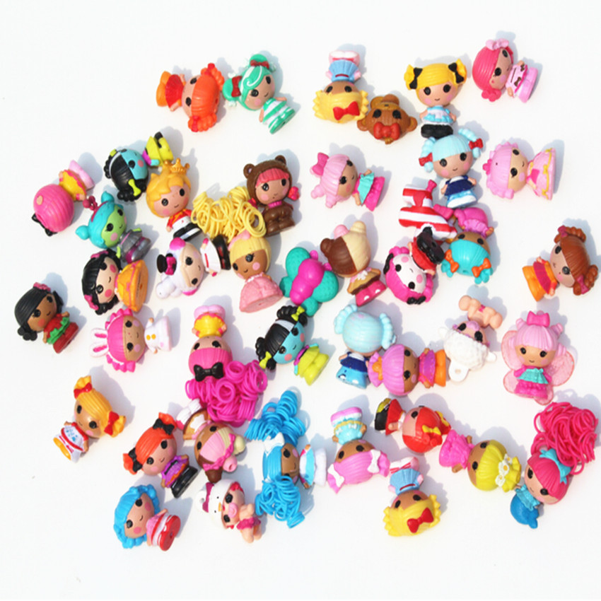 Skyleshine 50pcs/Lot Lalaloopsy Dolls And Accessories 4cm Play House Toys Action Figure Girls Brinquedo Doll S6202Dolls   -