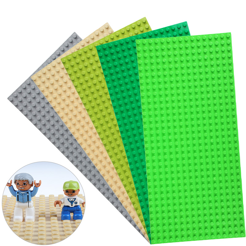 Big Blocks Base Plate 51*25.5cm 16*32 Dots Baseplate DIY Building Blocks Toys For Children Compatible Legoed Duploed new big size 40 40cm blocks diy baseplate 50 50 dots diy small bricks building blocks base plate green grey blue