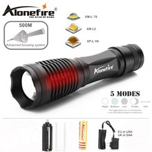 AloneFire E007 XML T6 L2 U3 V6 Aluminum Waterproof Zoom CREE LED Flashlight Torch linterna for AAA 18650 Rechargeable Battery(China)