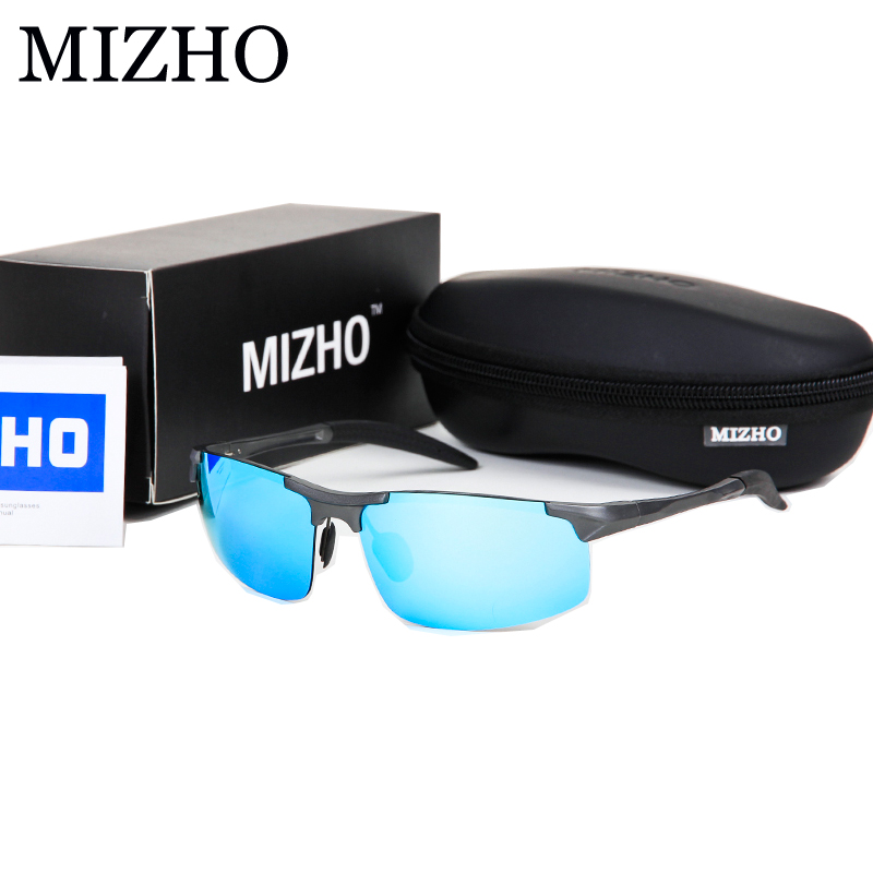 MIZHO Brand 3 COLOR Ovladače zvyšují jasnost Zabezpečení ochrany zraku Sluneční brýle Polarizované Muži Barevné Zrcadlo 2019