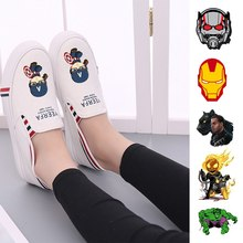 Film Marvel Captain America Ghost Rider Iron Man Womens Casual Fashion Summer Harajuku Low-Top Double-layer Canvas A193291