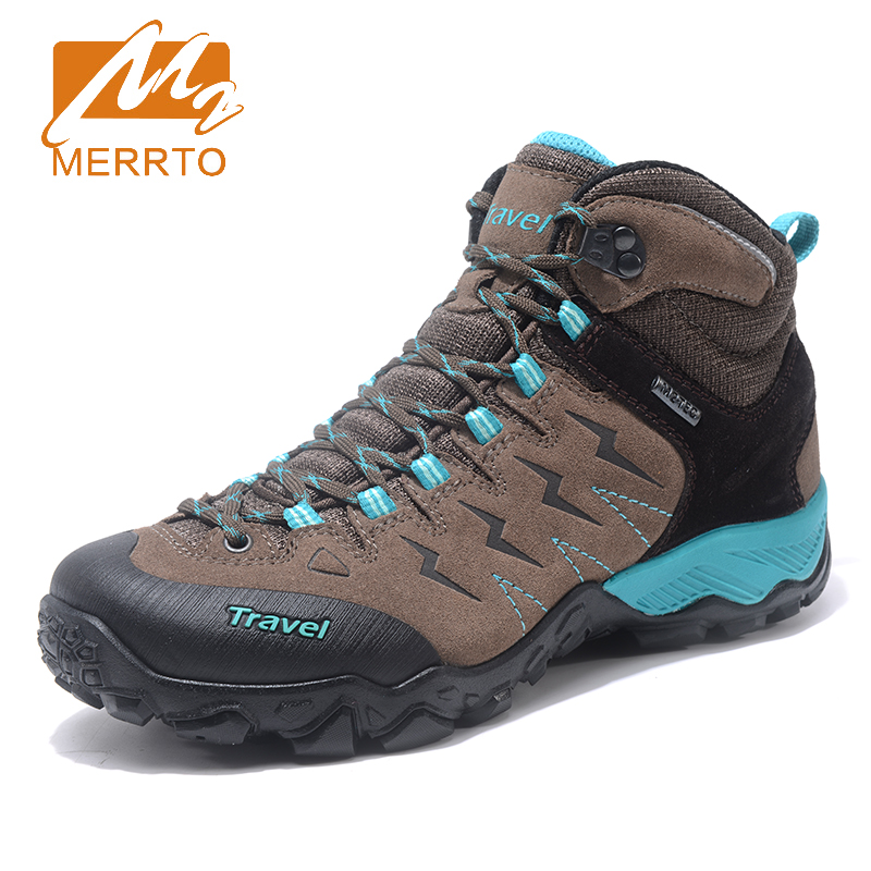 2017 Merrto Womens Outdoor Hiking Shoes Breathable Warmth Sports Shoes Non-slip Climbing Shoes For Women Free Shipping MT18685 new handmade hiking shoes for men climbing boots breathable and non slip cowhide outdoor sneakers free shipping
