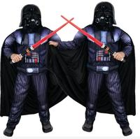 Muscle Darth Vader Anakin Skywalker Star Wars Costume Suit Kids Movie Costume For Halloween Party Cosplay