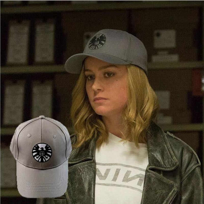 Captain Carol Danvers Caps Unisex Adjustable Hip Hop Sun Hat Snapback Agents of S.H.I.E.L.D. Shield Baseball Caps