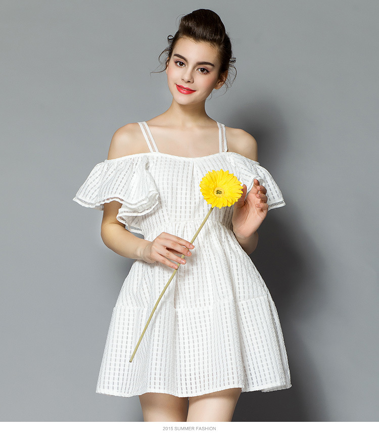 65a60137ff10 ruffles summer dress Strapless Off the Shoulder Straight Dresses Women  summer style sweety Dress femme Mini Q 131-in Dresses from Women s Clothing  on ...