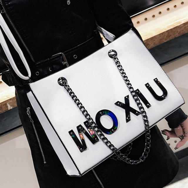 fe51d557f5a US $24.75 30% OFF|Aliexpress.com : Buy women casual tote bag female chain  strap large capacity crossbody messenger bag moden ladies brand shoulder ...
