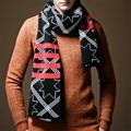 Autumn Winter Knitting Men Scarf Brand Jacquard Striped Patchwork Male Scarves bufandas pashmina foulard Christmas Gift NWJ058