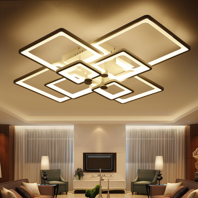 Abajur Direct Ing Ce Ac The New Rectangle Acrylic Led Ceiling Light Modern Living Room Lamp Of Deco Interior Lighting Home