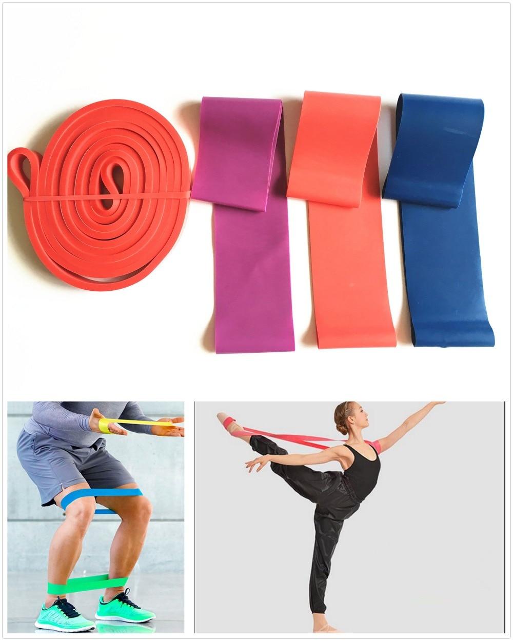 Banda Elastica de Resistencia Goma para Fitness Yoga Fuerza Ejercicio 13mm Roja