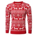 New 2016 Winter Mens Thick Fashion Warm Christmas Sweater With Deer Print Casual Pullovers Sweaters Men