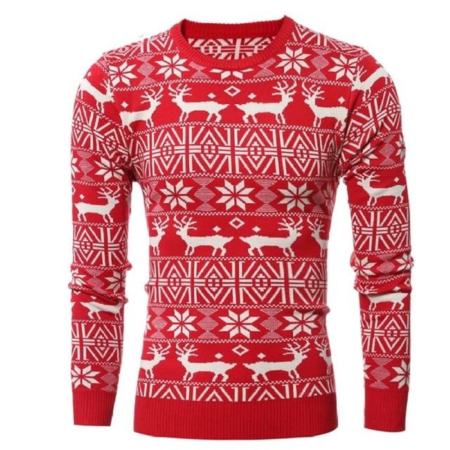 Trui Met Print.Nieuwe 2017 Winter Heren Dikke Mode Warm Kerst Trui Met Herten Print