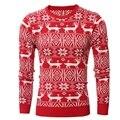 Novo 2016 Inverno Mens Grosso Moda Quente Camisola Com Cervos Do Natal Imprimir Casual Pullovers Camisolas Homens