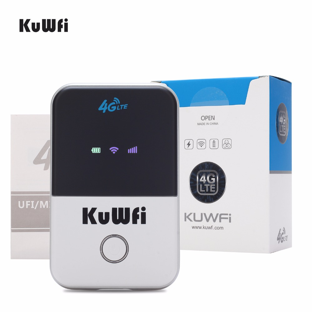 150Mbps Portable LTE Wifi Router 3G 4G Wireless Router Mobile Wifi Hotspot With SIM Card Slot For Travel 2000mAH Battery