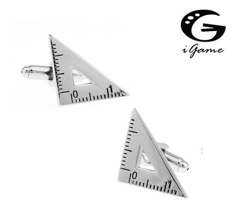 IGame Set Square Cuff Links Unique Protractor Design Free Shipping