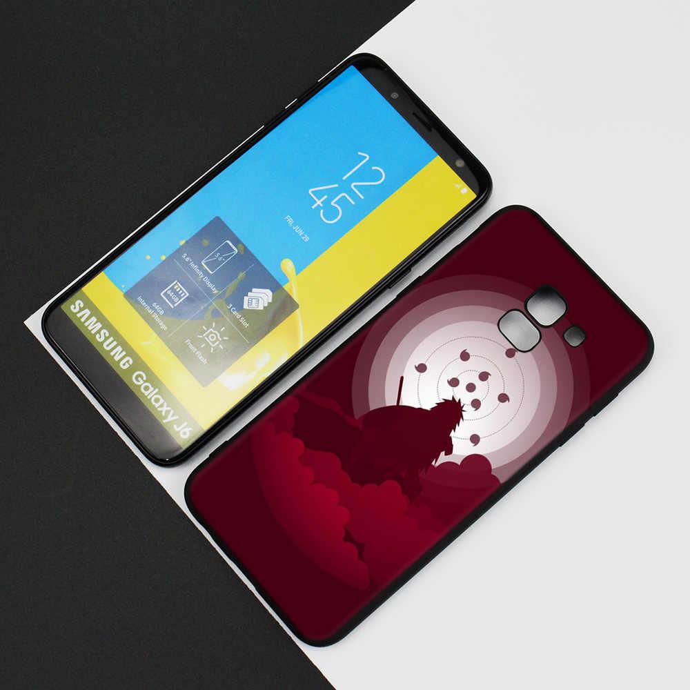 Silikon Soft Case für Samsung Galaxy J4 J6 A6 A8 Plus A7 A9 J8 2018 A5 2017 Abdeckung Shell Japan cartoon Naruto Itachi Kakashi