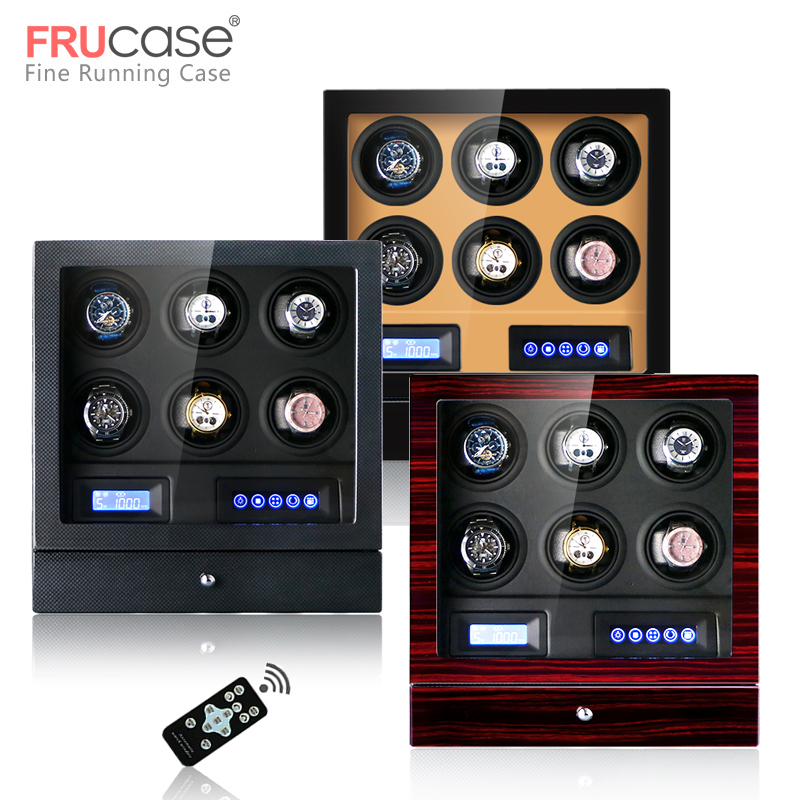 Luxury Watch winder automatic watch display for 4watches 6watches control Stop when the cover opened LED