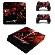 TEKKEN 7 PS4 Slim Sticker For Sony Playstation 4 Slim Console+Two Controller Skin Sticker For PS4 S Skin