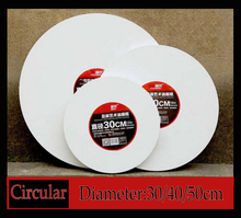 20/30/40/50cm circular canval paper for painting Blank canvas wooden drawing board Oil propylene painting canvas