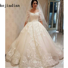 kejiadian 2019 Vintage Ball Gown Wedding Dress Bridal Gown