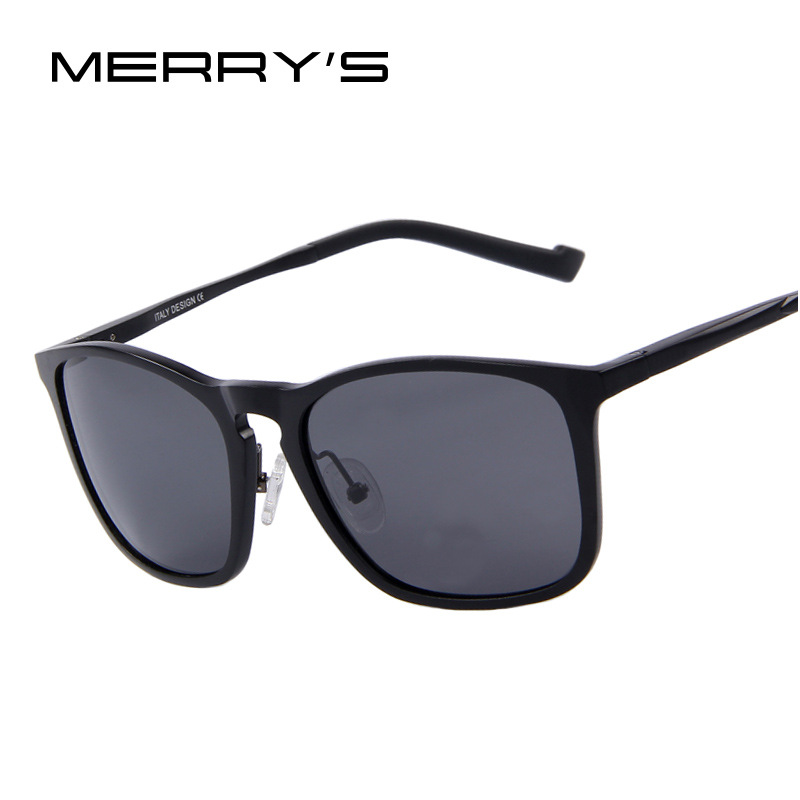 MERRY'S Men Polarized Sunglasses Aluminum Frame Fashion Sunglasses Oculos de sol UV400