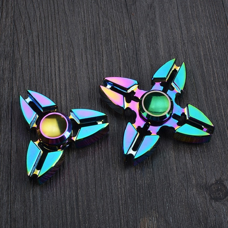 Fidget Hand Fidget Spiner Metal Gyro Hand Spinner Toy Fidget Spinner Rainbow Toys Christmas Gift Kids Adults Finger Spiner Toys