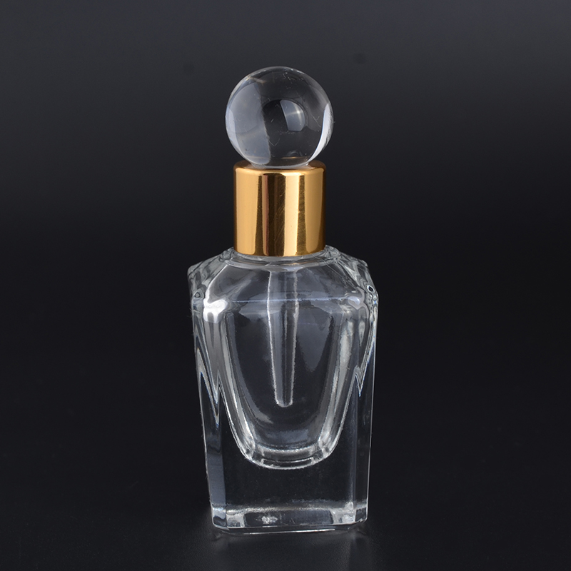 MUB - 15ml Mini Portable Refillable Glass Perfume Bottle For Essential Oil Empty Glass Perfume Case With Dropper
