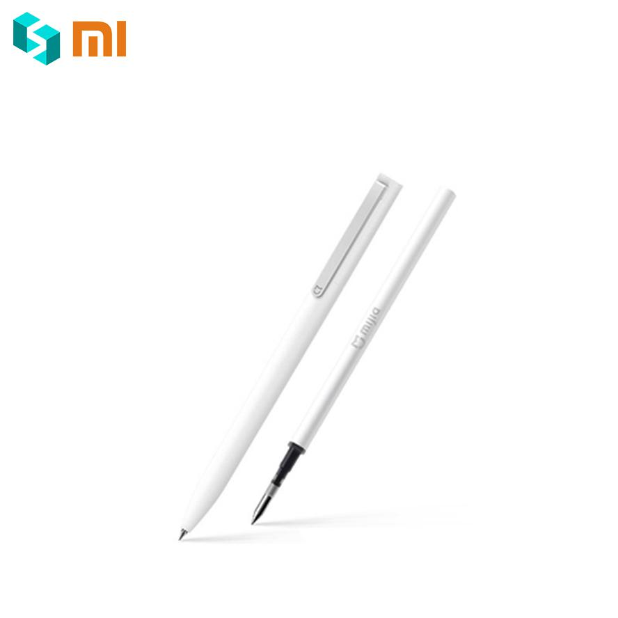 Premium Original Xiaomi Mijia Pen with 0.5mm Swiss Refill 143mm Rolling Roller Ball Mi Xiomi Sign Signing Ballpoint Black Ink original xiaomi mijia roller pen white