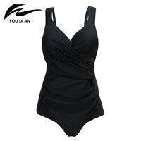 2018 Sexy Large Cup Swimwear Women One Piece Swimsuit Push Up Bathing Suits Plus Size Swimwear Female Beachwear Monokini