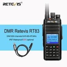 Get more info on the Retevis RT83 10W DMR Radio Digital Two Way Radio Walkie Talkie (GPS) UHF VOX IP67 Waterproof Ham Radio Amador Comunicador+Cable