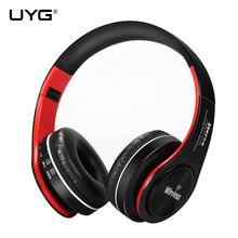 Cheaper UYG wireless bluetooth headphone headset handsfree earphones headphones with Microphone TF Card ear phones FM Radio for phone