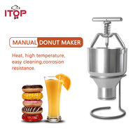 ITOP 2.5L Donut Maker Stainless Steel Waffle Dispenser Donut Mould Snack Machine Adjustment Size Food Processor