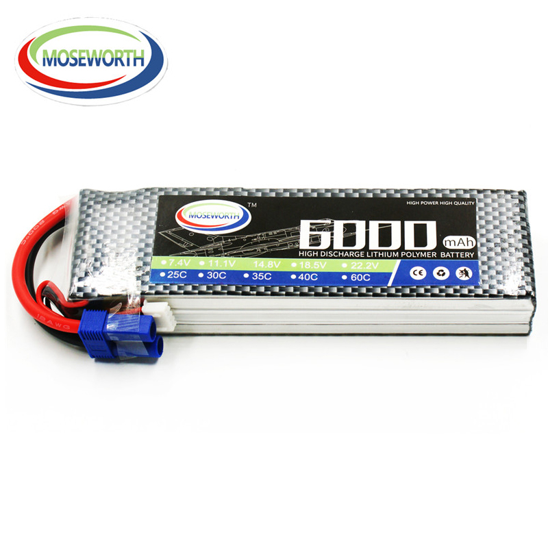 3S 11.1V 6000mAh 60C LiPo Battery For Remote Control Toys RC Helicopter Drone Car Airplane Quadcopter Boat Model Lithium Battery