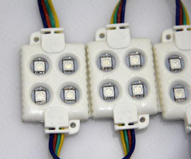 Módulo de Injeção LEVOU 5050 4 LED 12 V Branco Branco Quente À Prova D' Água IP65 Alto Brilho Para Led Canal Carta Publicidade Sinal 100 pcs