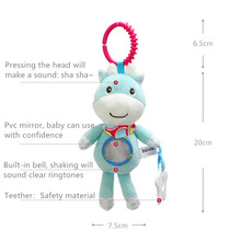 Baby Stroller Hanging Toys,Soft Plush Animal Bell Rattle Teether Wind Chimes Stroller Educational Toys