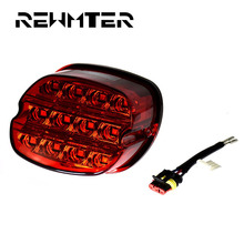 REWMTER Motorcycle Parts Led Brake Tail Light Grey/Red For Harley Touring Softail Sportster FXST FXSTS FXST 2003-Later