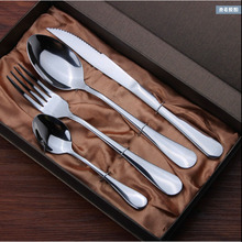 LD Stainless Steel Black Plating Tableware Meal Spoon Steak Knife Fork Kit Set Three Piece Non-Slip Suits Frosted Handle