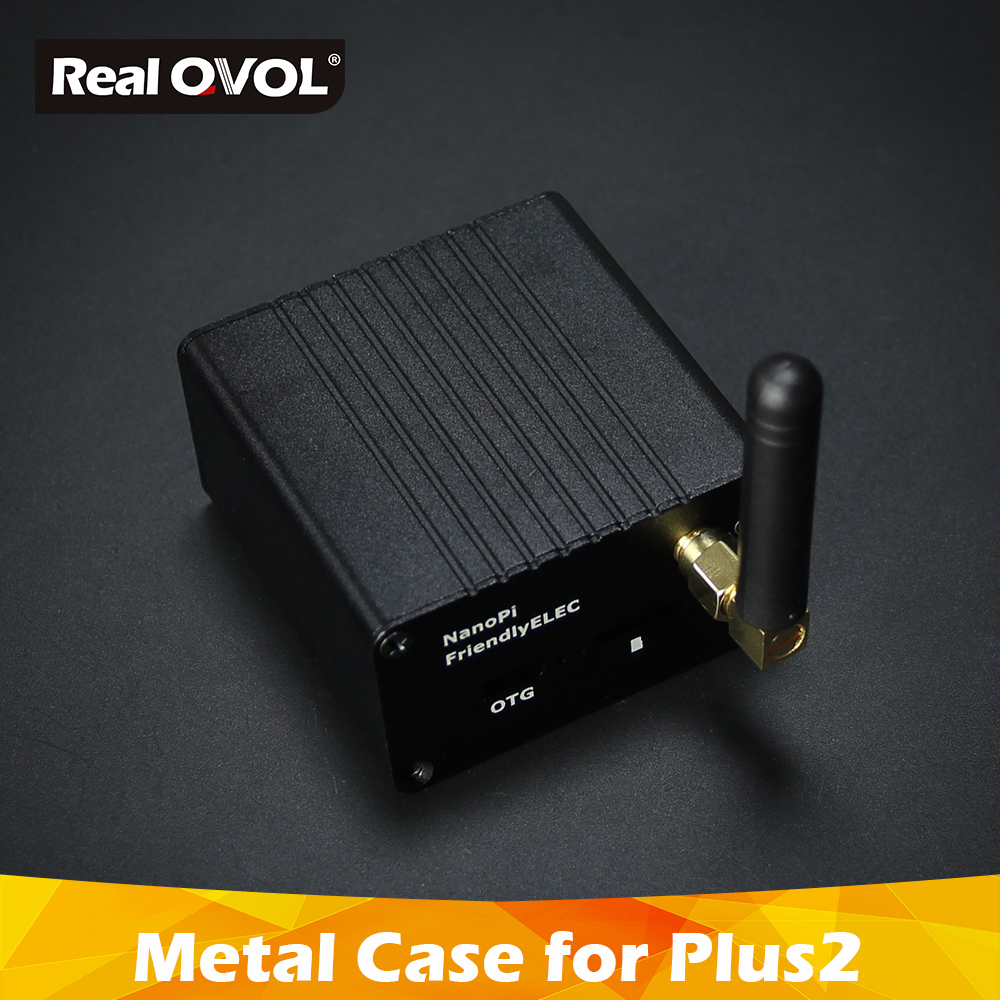 RealQvol Friendlyarm NanoPi NEO Plus2 All Metal Aluminum Shell With Antenna And Custom Radiator