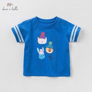 Image 3 - DBJ10359 דייב bella קיץ תינוק בני אופנה חולצה ילדי cartoon פסים חולצות בנות באיכות גבוהה בסוודרים ילדים מקרית tees