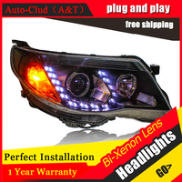 Auto Clud Car Styling For Subaru Forester LED Headlight 2008 2012 Bi Xenon Headlights Drl Lens