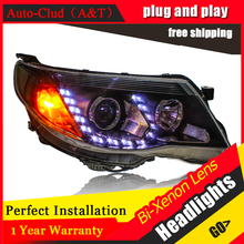 Auto Clud Car Styling for Subaru Forester LED Headlight 2008 2012 Bi Xenon Headlights drl Lens