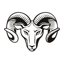 High Quality Living Room Hollow Out Rams Head Wall Stickers PVC Art Home Decor Animal Wall