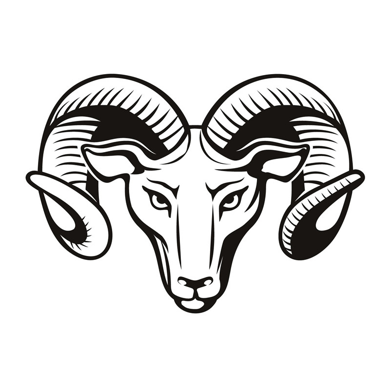 High Quality Living Room Hollow Out Rams Head Wall Stickers PVC Art font b Home b