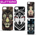 Fluorescente pintura 3d animal case para iphone 5 6 6 s 6 6 s plus para iphone 7 7 plus animal dos desenhos animados fina matte rígido telefone cobrir