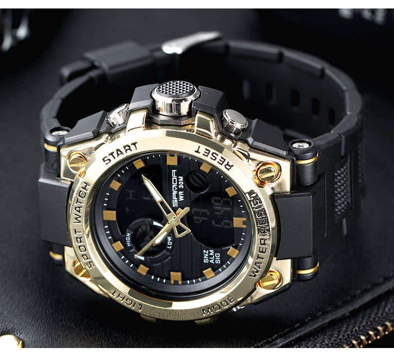 2019 New SANDA 739 Sports Men's Watches Top Brand Luxury Military Quartz Watch Men Waterproof S Shock Clock relogio masculino