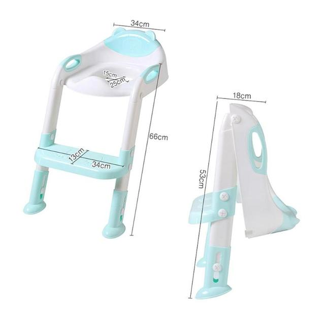 Folding Baby Child Potty Toilet Trainer Seat Step Stool Ladder Adjustable Toilet Training Chair echelle pot siege toilette | Happy Baby Mama