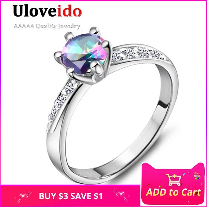 Esküvői korona kristály gyűrűk a nők számára Egyedülálló exkluzív karcsú cirkónia gyűrű ékszer eljegyzési gyűrű női Joyas Vintage J048
