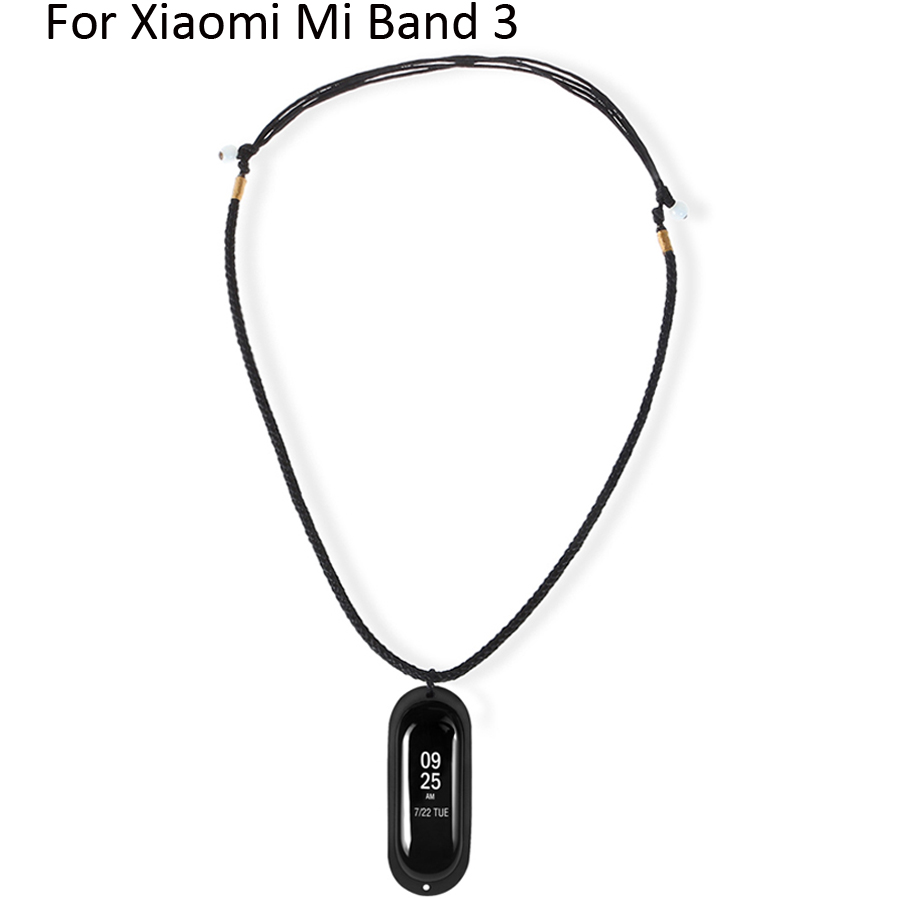 Replacement <font><b>Band</b></font> for <font><b>Xiaomi</b></font> <font><b>Mi</b></font> <font><b>Band</b></font> <font><b>3</b></font> DIY Knitted <font><b>Necklace</b></font> With Rubber Pendant Holder Case for <font><b>Xiaomi</b></font> <font><b>Mi</b></font> <font><b>Band</b></font> <font><b>3</b></font>/4 Accessories image